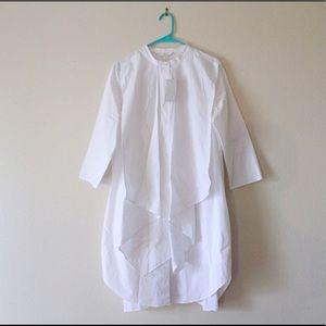 cos mandarin collar pleated white dress (nwt) (71)